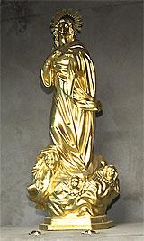 """Virgen de oro de """"el capo"""""""