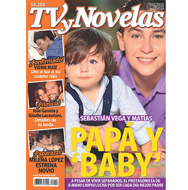 sebastian vega y su hijo en portada de TV y Novelas
